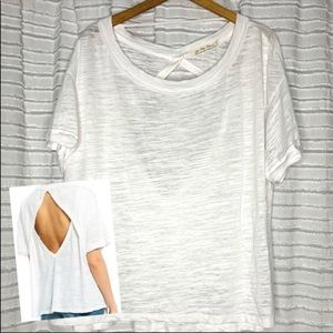 We the Free People White Viola Tee T-Shirt Top L
